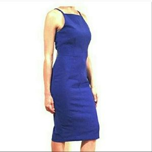 H&M Royal Blue Modern Classic Fitted Dress